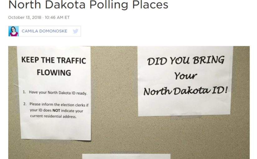 Indigenous voting suppressed in north dakota